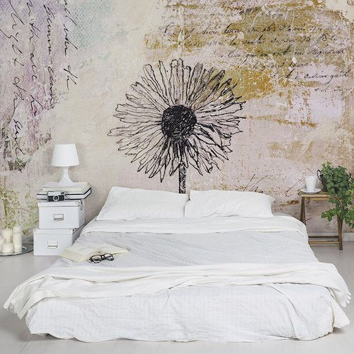 Papel de pared decorativo Shabby dandelion