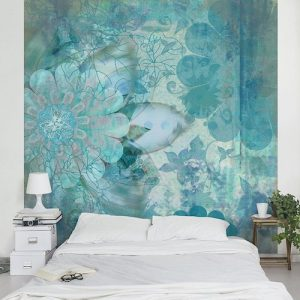Papel de pared decorativo Winter flowers